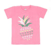 Pineapple T'Shirt For Girls - Pink (BTS-043)