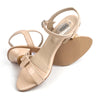 Fancy Heel Sandals For Girls - Beige (WS-2)