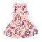 Unicorn Printed Frock For Girls - Peach (1672)