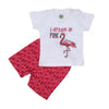 Flamingo 2 PCs Suit For Girls - Pink (SB-029)