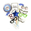 Happy Birthday Photo Props Multi - 20 Pcs (1585-A)