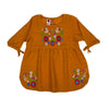 Slub Emb Blossom Top For Girls - Golden (GWT-003)