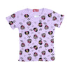 Minnie Mouse Printed T-Shirt For Girls - Purple (TZ-04)