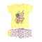 Fast Food Printed 2 Pcs Suit For Girls - Yellow (561)