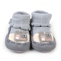 Baby Mouse Booties Set For Baby Boy - Grey (553-0)