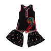 Fancy Eastern Parrot 3 PCs Suit For Girls - Black (E3PC-16)