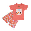 Cat 2 PCs Suit For Girls - Peach (SB-028)