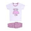 Dream On 2 PCs  Suit For Girls - White/Purple (GS-06)