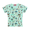 Beach Printed T-Shirt For Girls - Green (TZ-02)