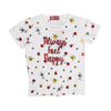 Always Feel Happy T-Shirt For Girls - White (TZ-01)