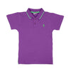 Casual Basic Polo Shirt For Boys - Purple (BTS-021)