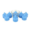 Blueberry Glass Candle Set - 8 Pcs (4181)