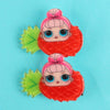 Pineapple Hair Pin For Girls - Red (9010-1)