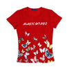 Butterfly Printed T-Shirt For Girls - Red (BM7-2057)