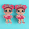 Character Hair Pin For Girls - Pink (9010-12)