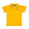 Casual Basic Polo Shirt For Boys - Saffron (BTS-015)