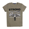 Strong To The Finish T-Shirt For Boys - Green (BM5-2042)