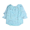Stars Printed Top For Girls - Sea Green (GTS-016)