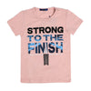 Strong To The Finish T-Shirt For Boys - Pink (BM5-2042)