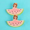Watermelon Hair Pin For Girls - Pink (9010-2)