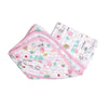 Printed Hooded Wrapping Sheet - Pink (S-011)