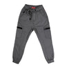 Zipper Pockets Cotton Pant For Boys - Grey (CP-25)
