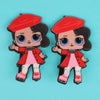 Character Hair Pin For Girls - Red (9010-7)