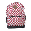 Check School Bag For Kids - Red/White (0008)