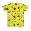 Flower Bouquet Printed T-Shirt For Girls - Yellow (TZ-06)