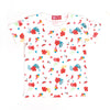 Flowers Printed T-Shirt For Girls - White (TZ-03)