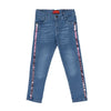Side Sequence Pant For Girls - Blue (DP-048)