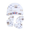 Teddy Bear Baby Cap Set - White (0014)