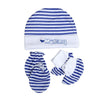 Mommy Baby Cap Set - White/Blue (0014)