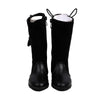 Fancy Zipper Long Boots For Girls - Black (52007)