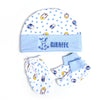 Giraffe Baby Cap Set - White/Blue (0014)