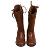 Fancy Zipper Long Boots For Girls - Camel (52007)