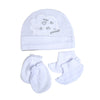 I Love Mommy Baby Cap Set - White (0014)