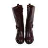 Fancy Zipper Long Boots For Girls - Maroon (18041708)