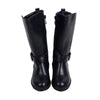 Fancy Zipper Long Boots For Girls - Navy (18041708)