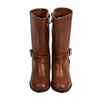 Fancy Zipper Long Boots For Girls - Camel (41603)