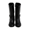 Fancy Zipper Long Boots For Girls - Black (41603)