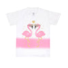 Flamingo T-Shirt For Girls - White (BTS-061)