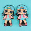 Character Hair Pin For Girls - Blue (9010-11)