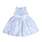 Fancy Flower Check Frock For Girls - White (GF-23)