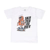 Skater Robot T-Shirt For Boys - White (BTS-057)