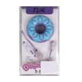 Doughnut Design Earphone For Kids - Purple (T-10)