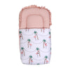 Printed Fancy Baby Carry Nest - White/Pink (CN-11)