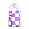 Check Style Baby Carry Nest - White/Purple (CN-09)