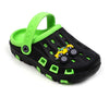 Casual Slippers For Boys - Black/Green (1506)