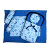 Baby Carry Printed Nest 5 PCs - Blue (2286)